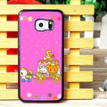 Cake Matte Rilakkuma Hard Back Covers For Samsung Galaxy S6 Edge G9250 - Rose