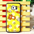 Cake Matte Rilakkuma Hard Back Covers For Samsung Galaxy S6 Edge G9250 - Yellow