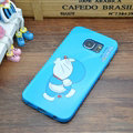 Classic Doraemon Silicone Casers For Samsung Galaxy S6 Edge G9250 - Blue