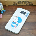 Classic Doraemon Silicone Casers For Samsung Galaxy S6 Edge G9250 - White