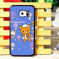 Classic Matte Rilakkuma Hard Back Cases For Samsung Galaxy S6 Edge G9250 - Purple