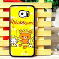 Classic Matte Rilakkuma Hard Back Covers For Samsung Galaxy S6 Edge G9250 - Yellow