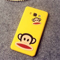 Classic Paul Frank Silicone Cases For Samsung Galaxy A7 A7009 - Yellow