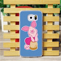 Cool Matte Piglet Hard Back Covers For Samsung Galaxy S6 G920F G9200 - Blue
