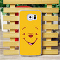 Cool Matte Winnie The Pooh Hard Back Covers For Samsung Galaxy S6 G920F G9200 - Yellow