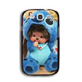Cool Monchhichi Matte Hard Back Cases For Samsung Galaxy Grand 3 G7200 - Blue