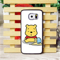 Cool Winnie the Pooh Matte Hard Back Cases For Samsung S6 Edge Plus S6Edge G9280 - White