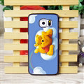 Cool Winnie the Pooh Matte Hard Back Covers For Samsung S6 Edge Plus S6Edge G9280 - Blue