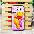 Cool Winnie the Pooh Matte Hard Back Covers For Samsung S6 Edge Plus S6Edge G9280 - Pink