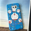 Cooling Doraemon Silicone Casers For Samsung Galaxy A7 A7009 - Blue