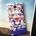 Cooling Doraemon Silicone Casers For Samsung Galaxy A7 A7009 - Purple