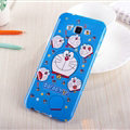 Cooling Doraemon Silicone Cases For Samsung Galaxy A8 A8000 - Blue