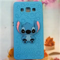Cooling Stitch Silicone Cases For Samsung Galaxy E7 E7000 E700F - Blue