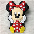 Cute 3D Minnie Mouse Silicone Cases For Samsung GALAXY Note5 N9200 - Red