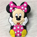 Cute 3D Minnie Mouse Silicone Cases For Samsung GALAXY Note5 N9200 - Rose