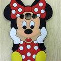Cute 3D Minnie Mouse Silicone Cases For Samsung Galaxy A7 A7009 - Red