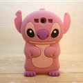 Cute 3D Stitch Silicone Cases For Samsung Galaxy E7 E7000 E700F - Pink