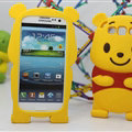 Cute 3D Winnie The Pooh Silicone Cases For Samsung Galaxy A8 A8000 - Yellow