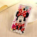 Cute Minnie Mouse Silicone Cases For Samsung GALAXY Note5 N9200 - Red