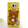 Cute Rilakkuma Silicone Cases For Samsung GALAXY Note5 N9200 - Yellow