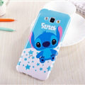 Cute Stitch Silicone Cases For Samsung Galaxy A8 A8000 - Blue