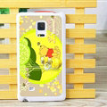 Cute Winnie The Pooh Matte Hard Back Cases For Samsung Galaxy Note Edge N9150 - Beige