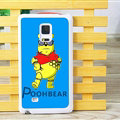 Cute Winnie The Pooh Matte Hard Back Cases For Samsung Galaxy Note Edge N9150 - Blue