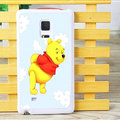 Cute Winnie The Pooh Matte Hard Back Cases For Samsung Galaxy Note Edge N9150 - Purple