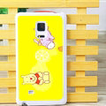Cute Winnie The Pooh Matte Hard Back Cases For Samsung Galaxy Note Edge N9150 - Yellow