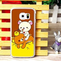 Floral Matte Rilakkuma Hard Back Cases For Samsung Galaxy S6 Edge G9250 - Brown