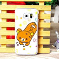 Floral Matte Rilakkuma Hard Back Cases For Samsung Galaxy S6 Edge G9250 - Coffee
