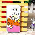 Floral Matte Rilakkuma Hard Back Cases For Samsung Galaxy S6 Edge G9250 - Rose