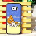 Floral Matte Rilakkuma Hard Back Covers For Samsung Galaxy S6 Edge G9250 - Purple