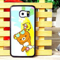 Floral Matte Rilakkuma Hard Back Covers For Samsung Galaxy S6 Edge G9250 - Yellow
