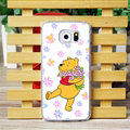 Floral Matte Winnie The Pooh Hard Back Cases For Samsung Galaxy S6 G920F G9200 - Rose