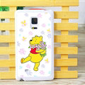 Floral Winnie The Pooh Matte Hard Back Cases For Samsung Galaxy Note Edge N9150 - Purple