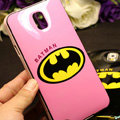 Fun Batman Silicone Cases For Samsung GALAXY S5 i9600 - Pink