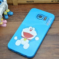 Fun Doraemon Silicone Casers For Samsung Galaxy S6 Edge G9250 - Blue