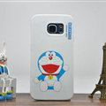 Fun Doraemon Silicone Casers For Samsung Galaxy S6 Edge G9250 - White