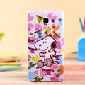 Lovely Snoopy Silicone Cases For Samsung Galaxy E7 E7000 E700F - Pink
