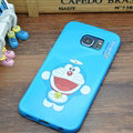 Pretty Doraemon Silicone Casers For Samsung Galaxy S6 Edge G9250 - Blue