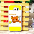 Pretty Matte Rilakkuma Hard Back Cases For Samsung Galaxy S6 Edge G9250 - Yellow