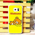 Pretty Matte Rilakkuma Hard Back Covers For Samsung Galaxy S6 Edge G9250 - Yellow