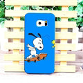 Unique Matte Snoopy Hard Back Cases For Samsung Galaxy S6 Edge G9250 - Blue