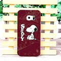 Unique Matte Snoopy Hard Back Cases For Samsung Galaxy S6 Edge G9250 - Coffee