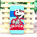 Unique Matte Snoopy Hard Back Cases For Samsung Galaxy S6 Edge G9250 - Red