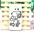 Unique Matte Snoopy Hard Back Cases For Samsung Galaxy S6 Edge G9250 - White Blue