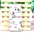 Unique Matte Snoopy Hard Back Cases For Samsung Galaxy S6 Edge G9250 - White Rose