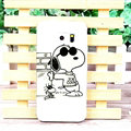 Unique Matte Snoopy Hard Back Cases For Samsung Galaxy S6 Edge G9250 - White