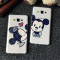 Unique Minnie Mouse Silicone Casers For Samsung Galaxy A8 A8000 - Black